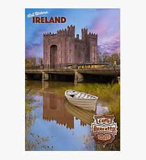 Vintage Ireland Travel Poster Photographic Print