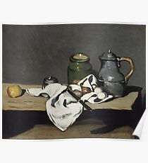 Paul Cézanne - Still Life with Kettle (1869) Poster