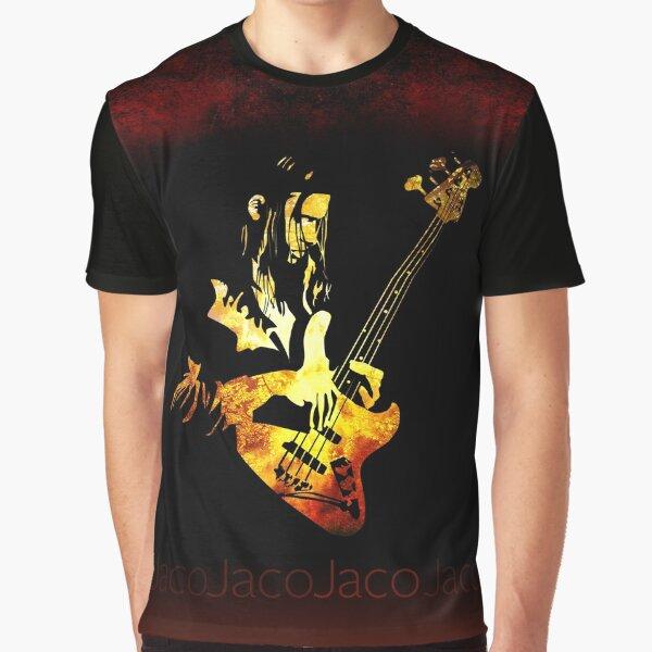 Jaco Pastorius Flame Graphic T-Shirt