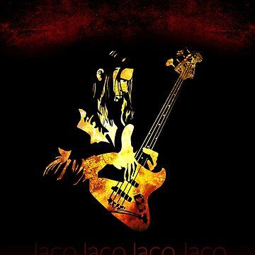 Jaco Pastorius Flame by mikedm