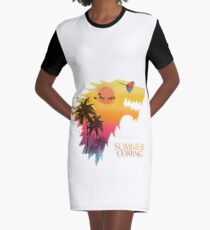 Sommer kommt T-Shirt Kleid