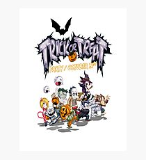 Halloween trick or treat pumpkin Photographic Print