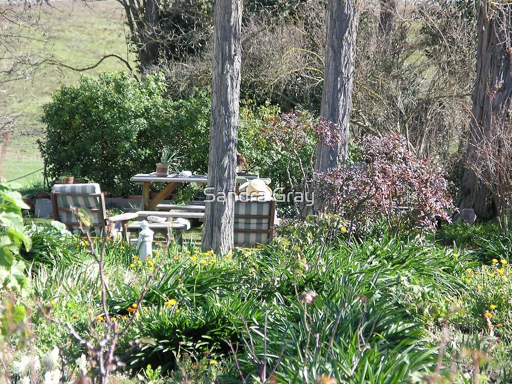 Thinking in the Garden (Sun Hat) by Sandra Gray