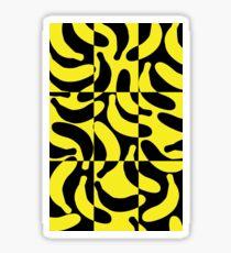 Banana print yellow Sticker