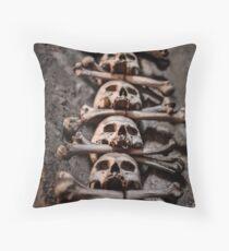 Sedlic Ossuary - Czech Republic - by Veleda Thorsson Throw Pillow