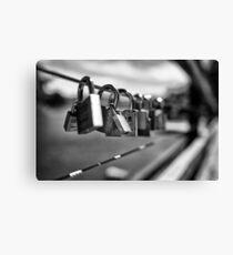 locks at lake Canvas Print