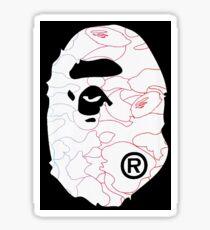 Bape Fan Art White Face Sticker