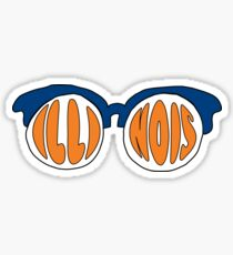 Illinois Sunglasses Sticker