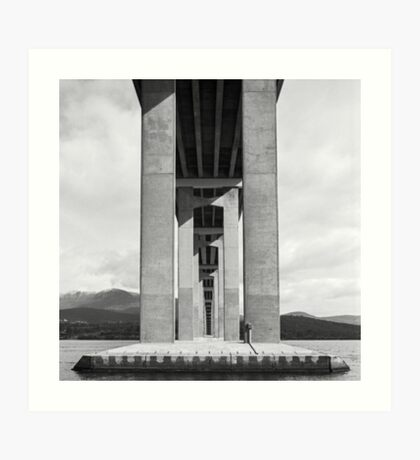 Beneath the Tasman Bridge Art Print