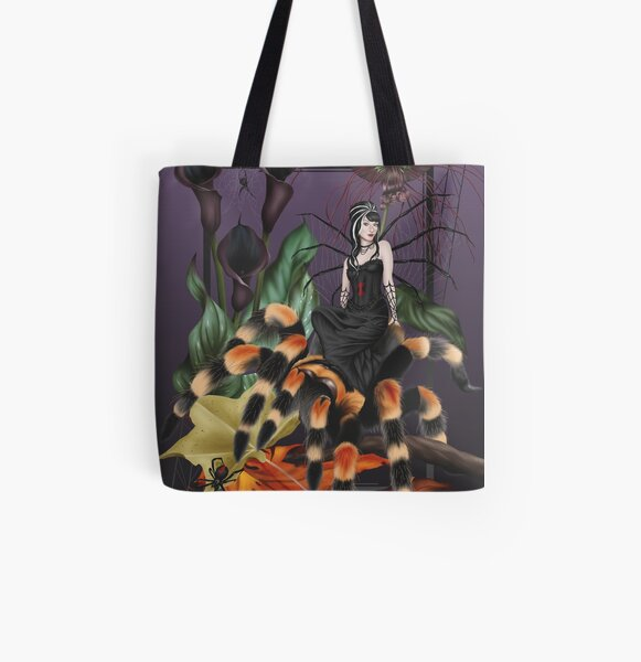 Spider Fairy Halloween Tarantula Witch All Over Print Tote Bag
