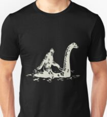 Bigfoot - Bigfoot Sasquatch Riding The Loch Ness T-Shirt