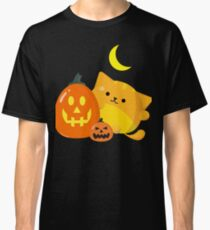 Halloween - Mochi Cat and Pumpkins Classic T-Shirt