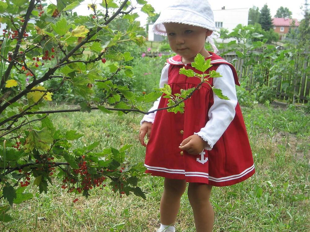 little girl in red by Elzbieta