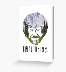 Bob Ross- happy little trees (CHECK DESCRIPTION) Greeting Card