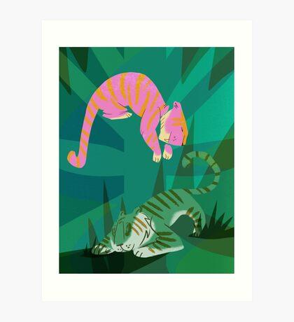 jungle tigers Art Print