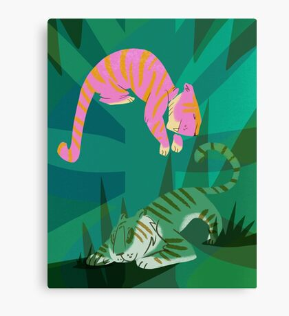 jungle tigers Canvas Print