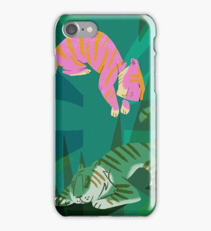 jungle tigers iPhone Case/Skin
