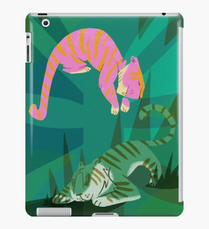 jungle tigers iPad Case/Skin