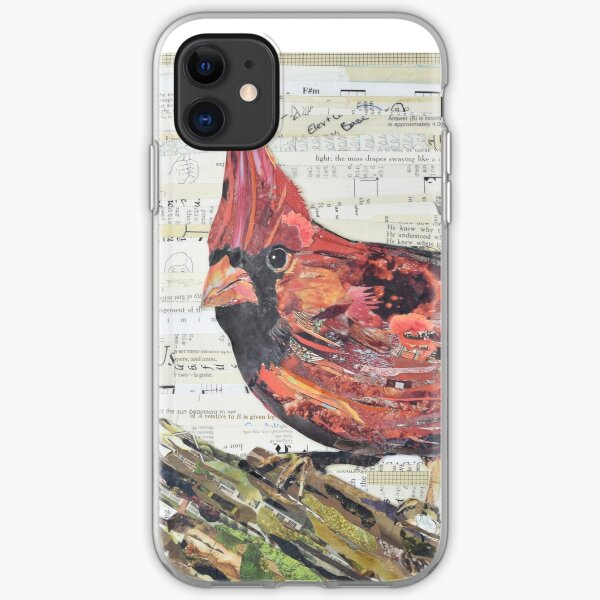 Cardinal Collage by C.E. White - Red Bird iPhone Soft Case
