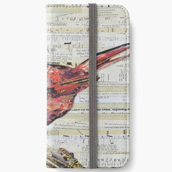 Cardinal Collage by C.E. White - Red Bird iPhone Wallet