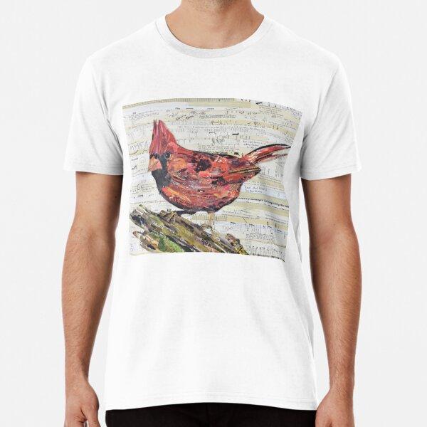 Cardinal Collage by C.E. White - Red Bird Premium T-Shirt