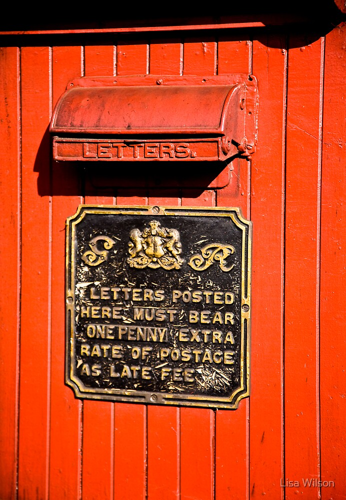 Turn of the century courier post by Lisa Wilson