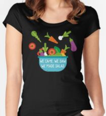 We Came We Saw We Made Salad Women's Fitted Scoop T-Shirt