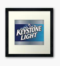Keystone Light Framed Print