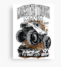 Monster Truck Mania Group Canvas Print