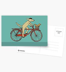 Dog & Squirrel are Friends Postcards