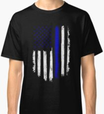 Police Gift - Distressed American Flag Police Classic T-Shirt