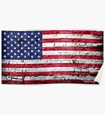 American Flag Grunge Poster