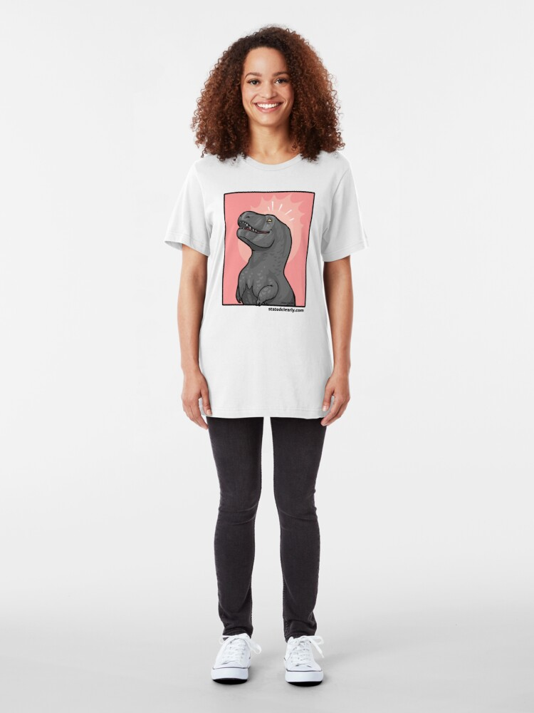 Alternate view of Gloating T. rex!  Slim Fit T-Shirt