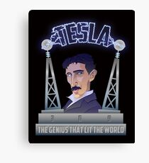 Tesla -The Genius That Lit The World Canvas Print