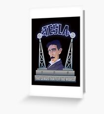 Tesla -The Genius That Lit The World Greeting Card