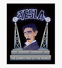 Tesla -The Genius That Lit The World Photographic Print
