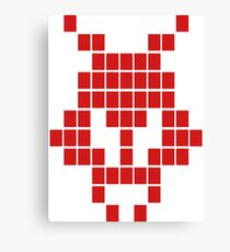 8Bit Invader, 8 Bit Monster, Pixel Invader, Alien Canvas Print