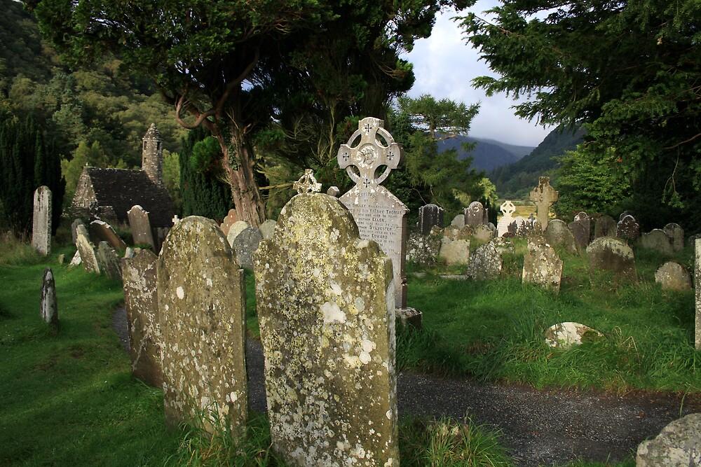 Glendalough cemetery view by John Quinn