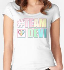#TEAMDEVI (Rainbow) Women's Fitted Scoop T-Shirt