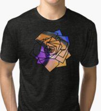 Rose (Sampled Orange Fisheye) Geometry Tri-blend T-Shirt