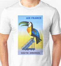 1956 Air France South America Toucan Travel Poster T-Shirt