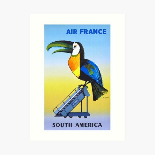 1956 Air France South America Toucan Travel Poster Art Print