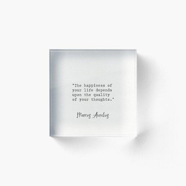 Marcus Aurelius quote Acrylic Block