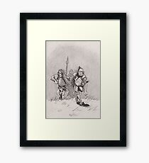 Advancing skinny orcs Framed Print