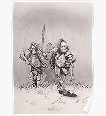 Advancing skinny orcs Poster