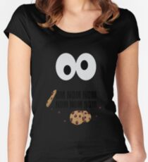 Om Nom Nom Women's Fitted Scoop T-Shirt