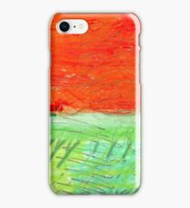 Red Sun, Orange Sky, Green Earth iPhone Case/Skin