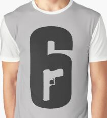 R6S - Rainbow Six logo Graphic T-Shirt