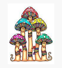 Mushroom Forest Photographic Print