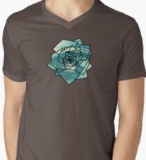 Geometrics: Rose (Sampled Eye) Geometry Men's V-Neck T-Shirt